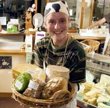 Fiona at the Loch Arthur Farm Shop