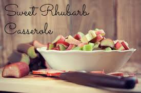 Casseroled Rhubarb