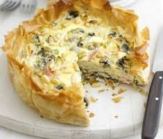 Cheshire Cheese and Smoked Ham Quiche