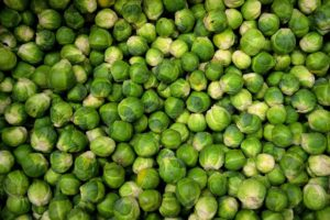 Brussels Sprouts with bacon almonds and citrus crumbs