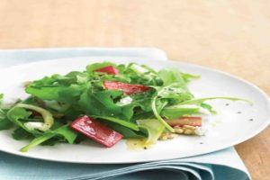 Rhubarb and Goats Cheese Salad